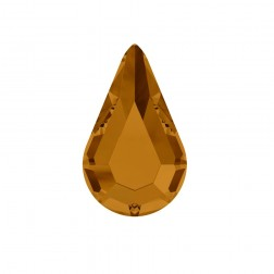 Swarovski Pear Flatback #2300 - Copper - 8x4.8mm