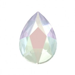 Swarovski Jewel Cut Pear Flatback #2303 - Crystal AB - 14x9mm