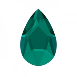 Swarovski Jewel Cut Pear Flatback #2303 - Emerald - 14x9mm