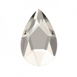 Swarovski Jewel Cut Pear Flatback #2303 - Silver Shade - 14x9mm