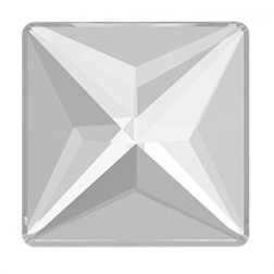 Swarovski Jewel Cut Square Flatback #2404 - Crystal - 14mm