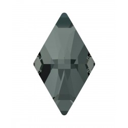 Swarovski Rhombus Flatback #2709 - Black Diamond - 13x8mm