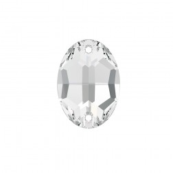 Swarovski Oval Sew-On Stone #3210 - Crystal - 10mm x 7mm