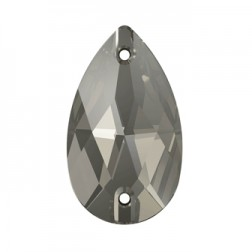 Swarovski Pear Sew-On Stone #3230 - Black Diamond - 18x10.5mm
