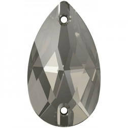 Swarovski Pear Sew-On Stone #3230 - Black Diamond - 28x17mm