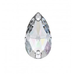 Swarovski Pear Sew-On Stone #3230 - Crystal AB - 12x7mm