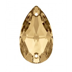 Swarovski Pear Sew-On Stone #3230 - Golden Shadow - 18x10.5mm