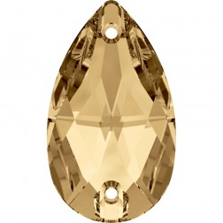 Swarovski Pear Sew-On Stone #3230 - Golden Shadow - 28x17mm