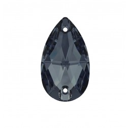 Swarovski Pear Sew-On Stone #3230 - Graphite - 12x7mm