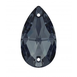 Swarovski Pear Sew-On Stone #3230 - Graphite - 18x10.5mm