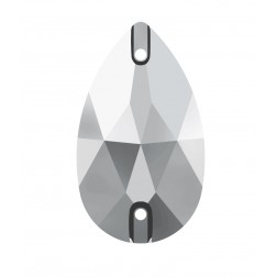 Swarovski Pear Sew-On Stone #3230 - Lt Chrome - 18x10.5mm