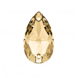 Swarovski Pear Sew-On Stone #3230 - Golden Shadow - 12x7mm