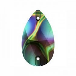 Swarovski Pear Sew-On Stone #3230 - Rainbow Dark - 18x10.5mm