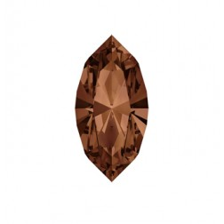 Swarovski Navette Fancy Stone #4228 - Smoked Topaz 15x7mm