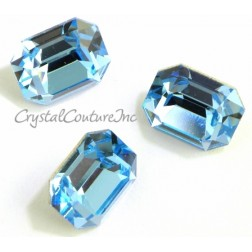 Swarovski Octagon Fancy Stone #4600 - Aquamarine 10mm x 6mm