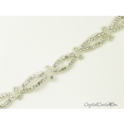 Silver/Crystal Rhinestone/Beaded Trim