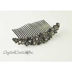 Black Diamond  Rhinestone 4 inch Comb