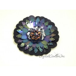 Black Iris/Black Sequin Combo Applique