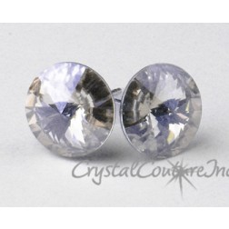 Blue Shade 10mm Rivoli Post Earrings made with SWAROVSKI ELEMENTS