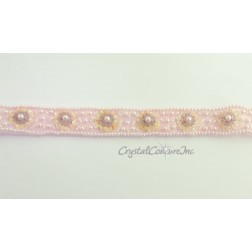 Lt Pink Pearl/Bead/Sequin Trim