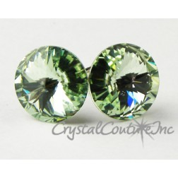 Chrysolite 10mm Rivoli Post Earrings made with SWAROVSKI ELEMENTS