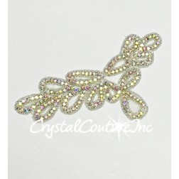 Crystal AB Beaded Rhinestone Applique #5