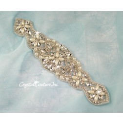 Crystal/Pearl & Pear/Navette Rhinestone Applique #1