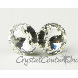 Crystal 10mm Rivoli Post Earrings made with SWAROVSKI ELEMENTS