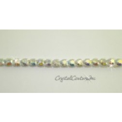 Crystal AB 1 row rhinestone 20ss banding - by the yard