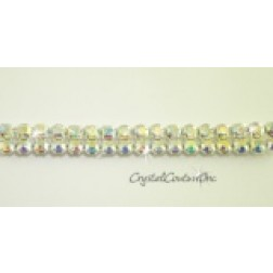 Crystal AB 2 row rhinestone 20ss banding - by the yard