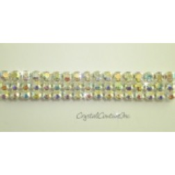 Crystal AB 3 row rhinestone 20ss banding - by the yard
