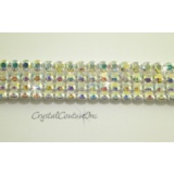 Crystal AB 4 row rhinestone 20ss banding - by the inch