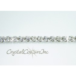 Crystal 1 row rhinestone 20ss banding - by the inch