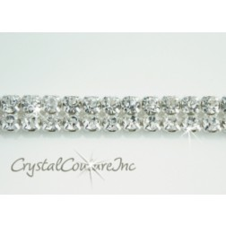 Crystal 2 row rhinestone 20ss banding - by the inch