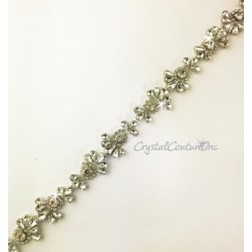 Crystal Rhinestone Pear Shape Trim - per foot