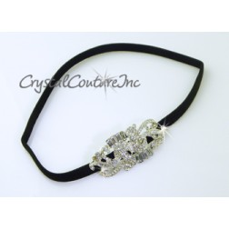 Crystal Baguette Rhinestone Stretch Headband