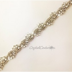 Crystal Rhinestone Navette Shape Trim - per foot