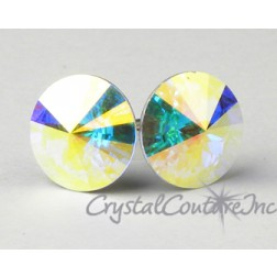 Crystal AB 10mm Rivoli Post Earrings made with SWAROVSKI ELEMENTS