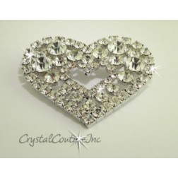 Crystal Rhinestone Heart Shape Embellishment