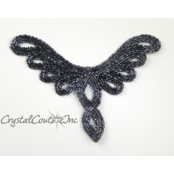 Gunmetal  Beaded Applique