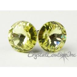 Jonquil 10mm Rivoli Post Earrings made with SWAROVSKI ELEMENTS