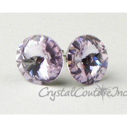 Provence Lavender 10mm Rivoli Post Earrings made with SWAROVSKI ELEMENTS