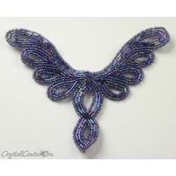 Light Amethyst AB Beaded Applique