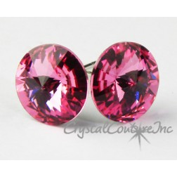 Rose 10mm Rivoli Post Earrings made with SWAROVSKI ELEMENTS