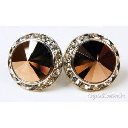 Rose Gold 15mm Rondelle Post Earrings made with SWAROVSKI ELEMENTS