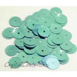 Aqua Metallic 8mm Sequin