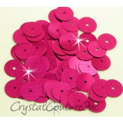 Fuchsia Metallic 8mm Sequin