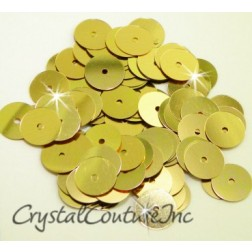 Gold Metallic 8mm Sequin