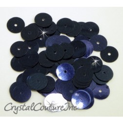 Navy Blue Metallic 8mm Sequin