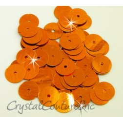 Orange Metallic 8mm Sequin